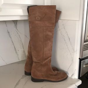 Lucky Brand over the Knee brown suede boots